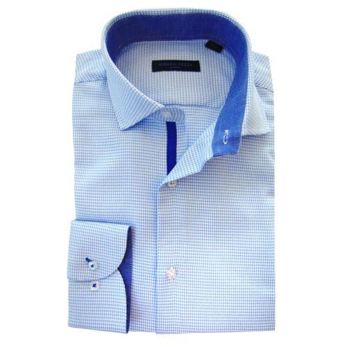 Men's Andrew Fezza Slim-Fit Houndstooth Dress Shirt - Men