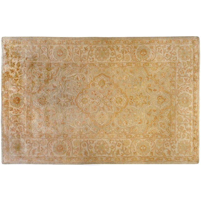 Artisan Weaver Tucumcari Floral Framed Wool Rug