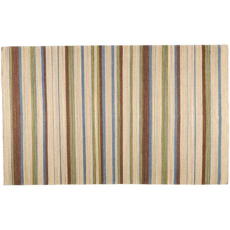 Artisan Weaver Valentine Striped Reversible Wool Rug