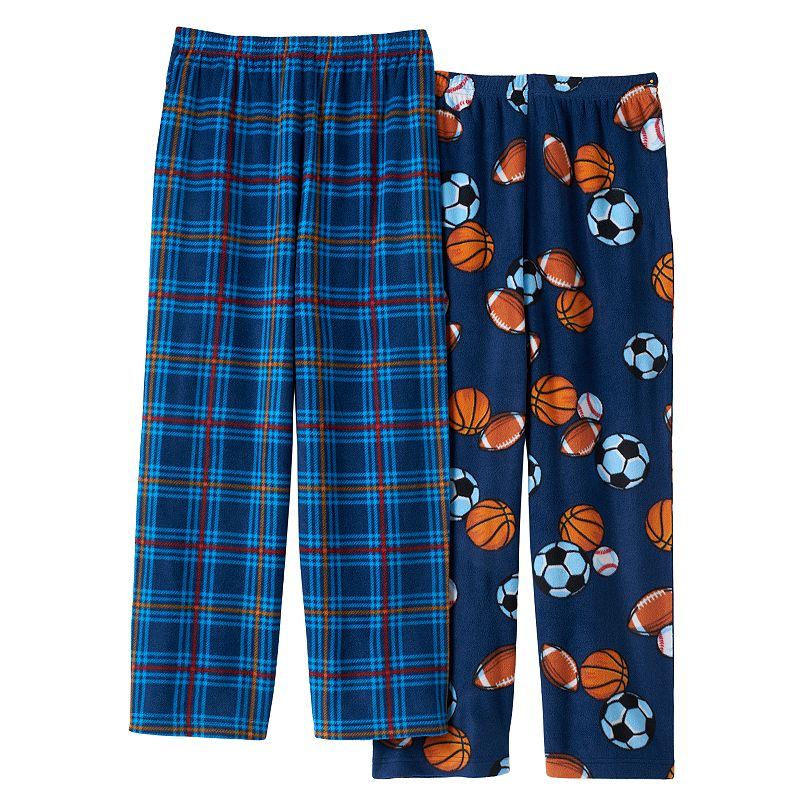 Boys All Sports 2-Pack Fleece Pajama Bottoms