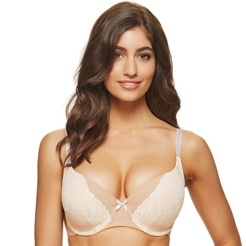 Perfects Australia Bra: Curve It Up Full-Figure Push-Up Balconette Bra 14UFF84 - Women's