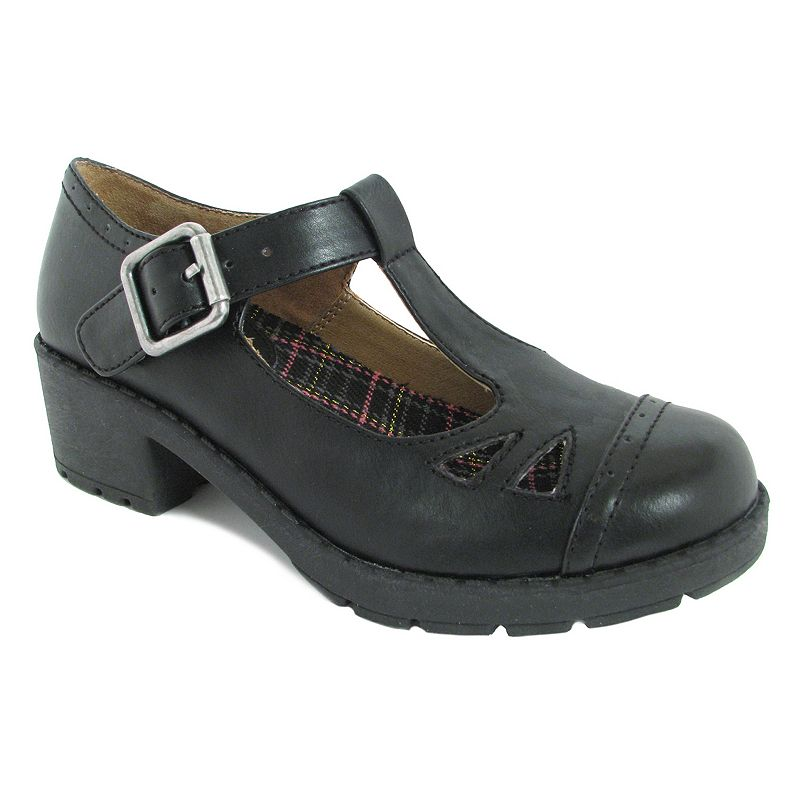 Mia Inez Girls' Cutout T-Strap Shoes