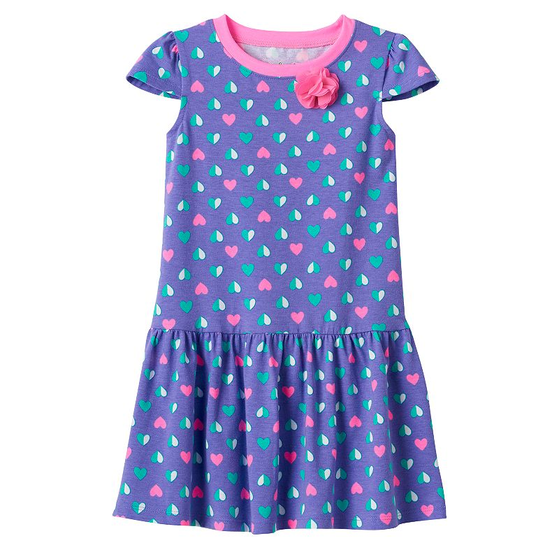 Toddler Girl Jumping Beans® Chiffon Flower Drop-Waist Dress