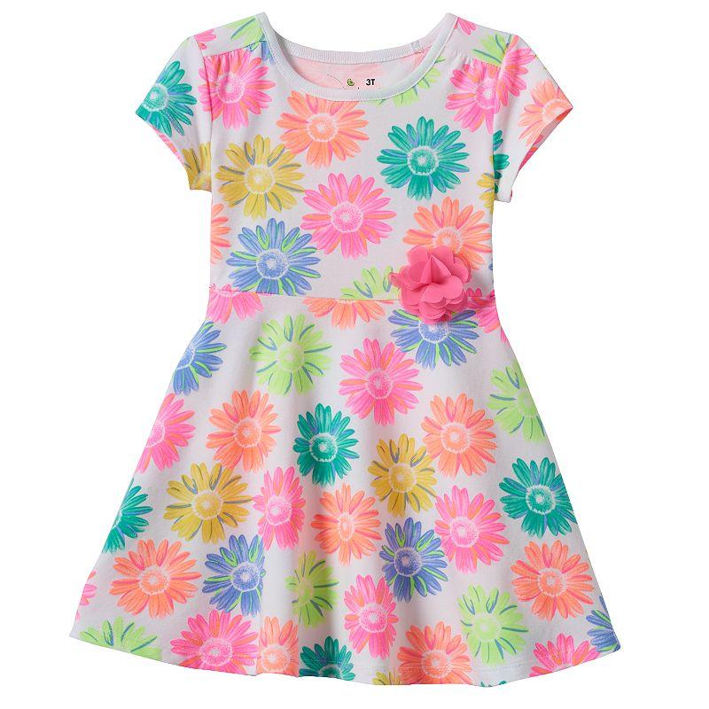 Toddler Girl Jumping Beans® Short-Sleeve Print Skater Dress