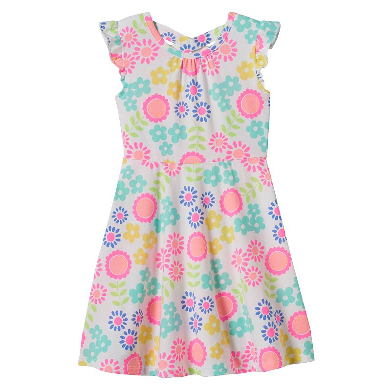 Toddler Girl Jumping Beans® Cross-Back Print Skater Dress