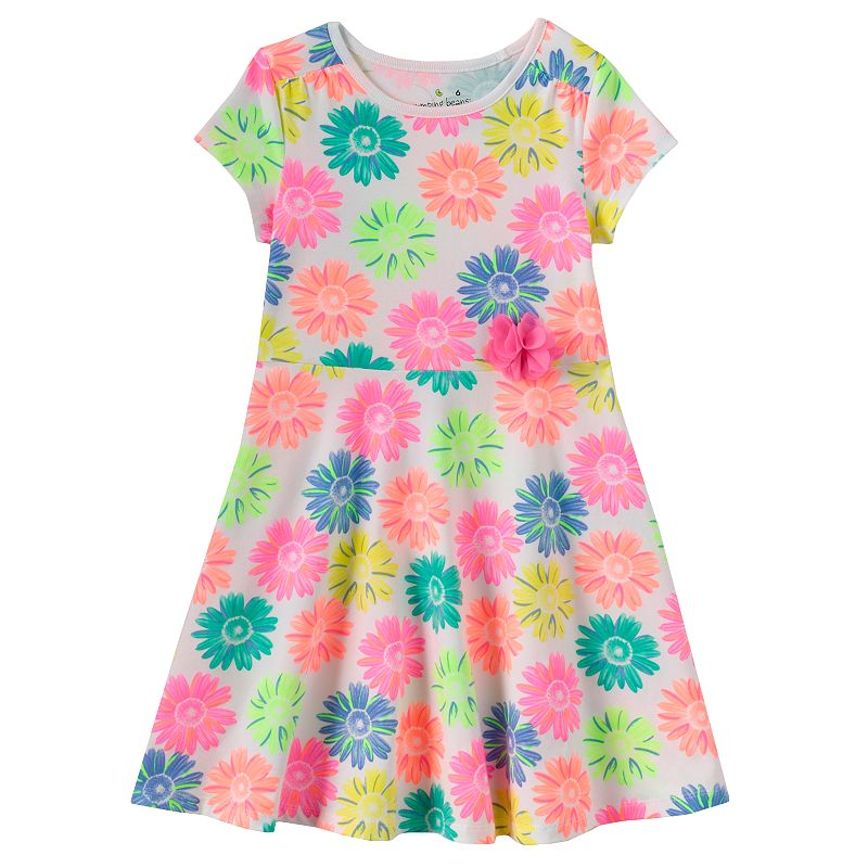 Girls 4-10 Jumping Beans® Short-Sleeved Skater Dress