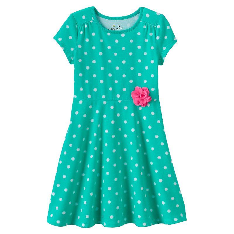 Girls 4-10 Jumping Beans® Short-Sleeved Skater Dress