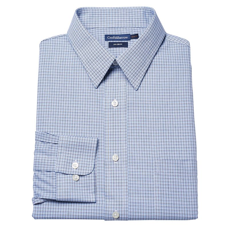 Croft & Barrow® Fitted Micro-Checked No-Iron Dress Shirt - Men