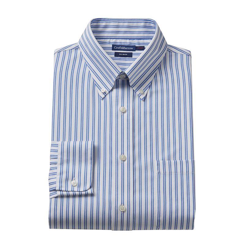 Croft & Barrow® Fitted Striped No-Iron Dress Shirt - Men