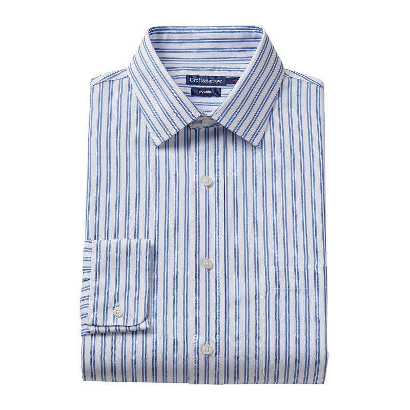Croft & Barrow® Slim-Fit Striped No-Iron Dress Shirt - Men