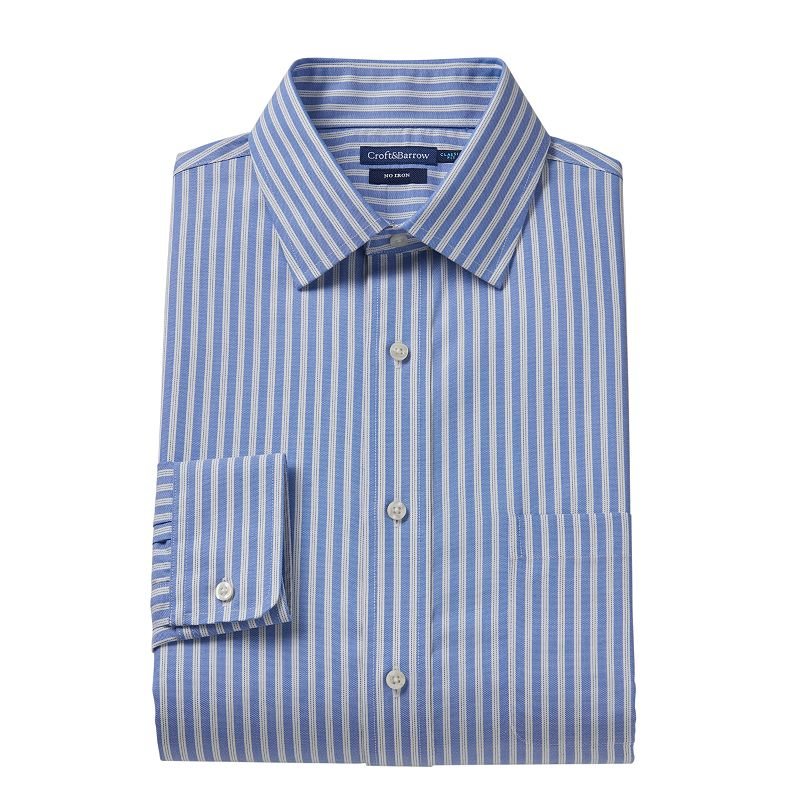 Croft & Barrow® Fitted Pencil-Striped Dress Shirt - Men