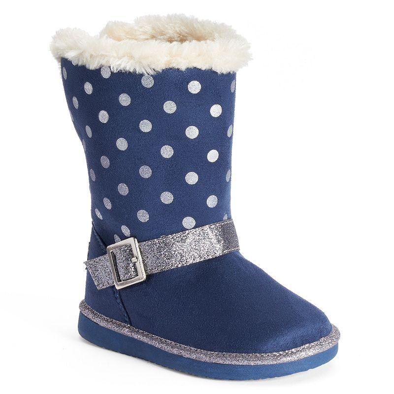 OshKosh B'gosh® Iris Toddler Girls' Polka-Dot Glitter Winter Boots