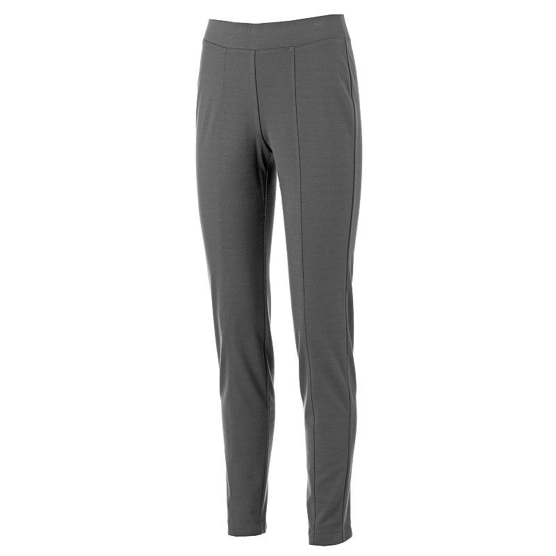 Croft & Barrow® Seamed Pull-On Ponte Pants - Women's