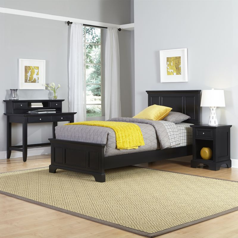 Home Styles Naples Bed, Desk & Nightstand 3-piece Set, Multicolor thumbnail
