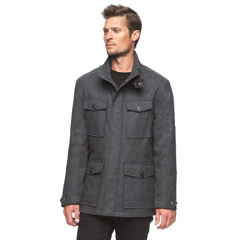 Men's AM Studio by Andrew Marc Wool-Blend 4-Pocket Jacket