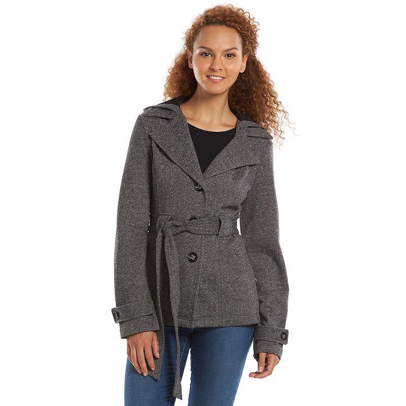 Women's Sebby Hooded Fleece Peacoat