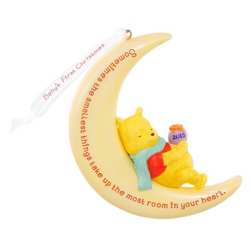 Disney Winnie the Pooh Baby's First Christmas Keepsake Ornament by Hallmark (Black)