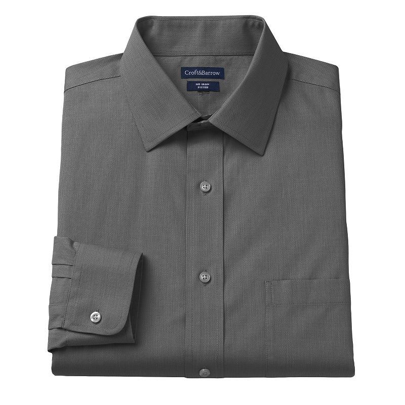 Croft & Barrow® Fitted Dogbone Textured Dress Shirt - Men