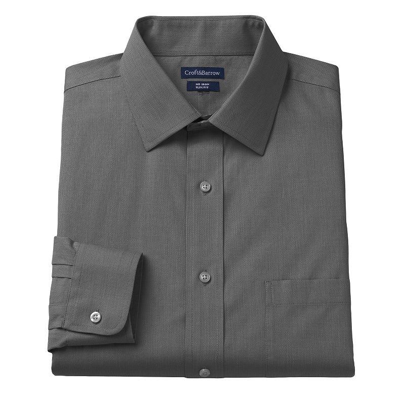 Croft & Barrow® Slim-Fit Dogbone Textured Dress Shirt - Men