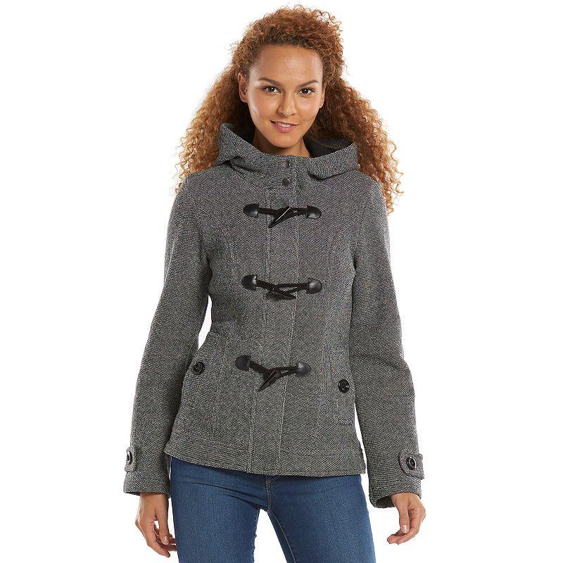 Women's Sebby Hooded Fleece Toggle Peacoat