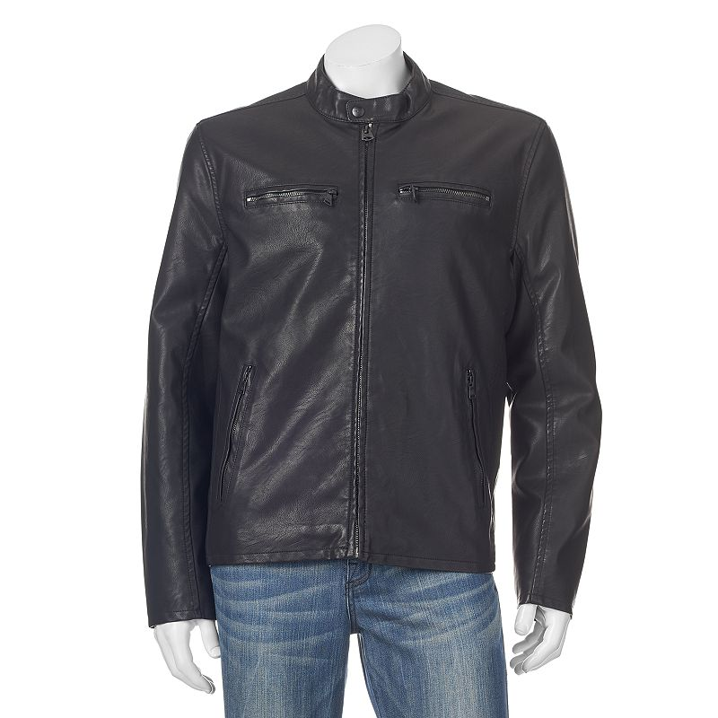 Men's Dockers Faux-Leather Classic Racer Jacket
