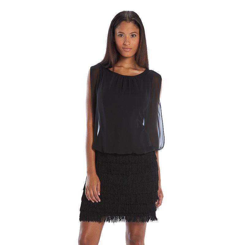 Scarlett Fringe Blouson Sheath Dress - Women's