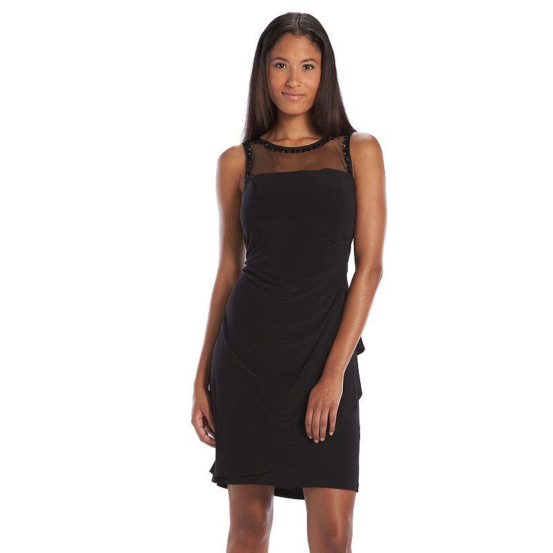 Scarlett Embellished Illusion Sheath Dress - Women's