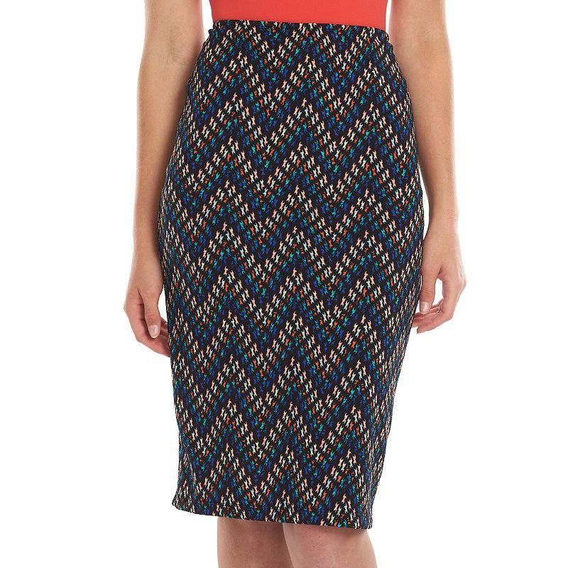 Loramendi Zigzag Midi Pencil Skirt - Women's
