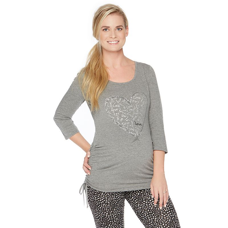 Maternity Oh Baby by Motherhood™ Ruched Graphic Tee