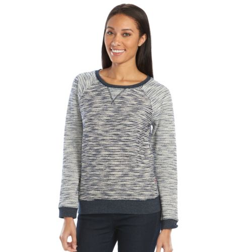 Women's Levi's Striped French Terry Crewneck Sweater