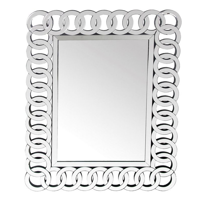 Privilege Chain Detail Beveled Wall Mirror