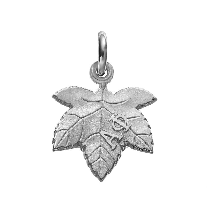LogoArt Sterling Silver Alpha Phi Sorority Ivy Leaf Charm