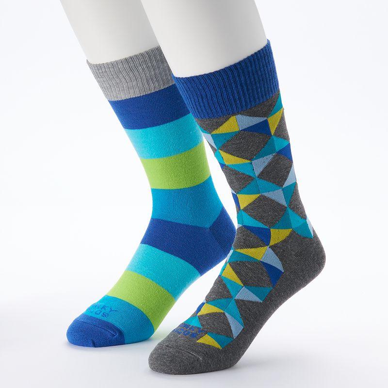 Funky Socks 2-pk Triangle Crew Socks - Men