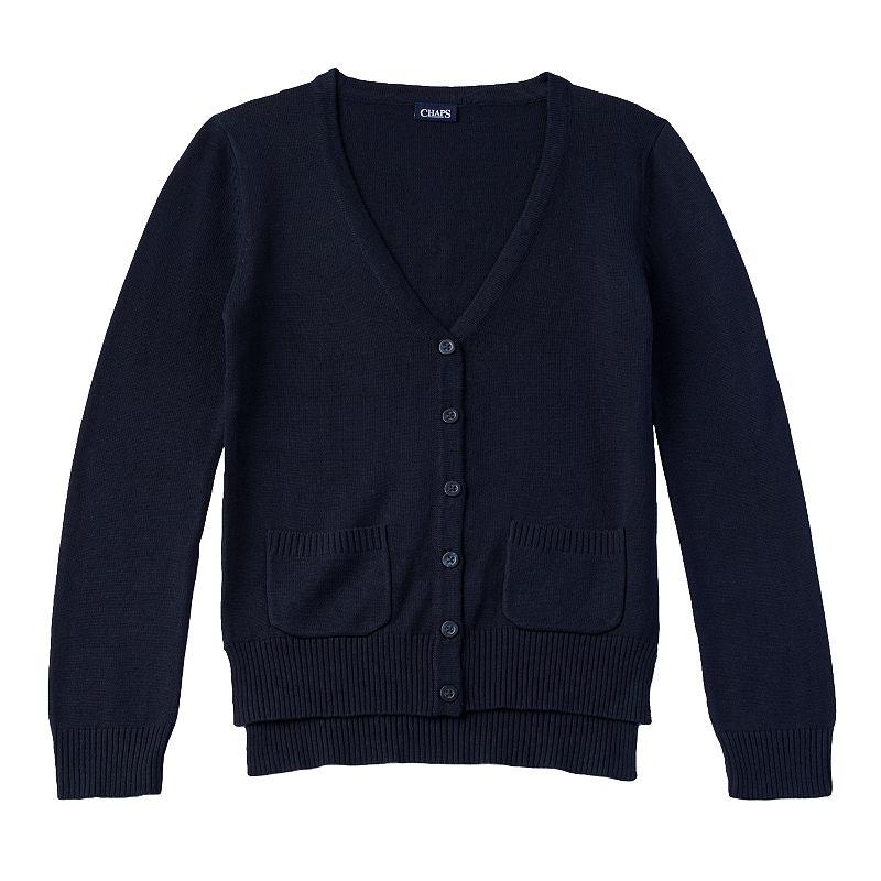 Girls 4-6x Chaps School Uniform Boyfriend Cardigan