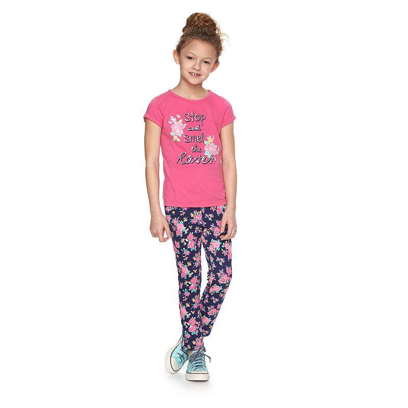 Girls 4-10 SONOMA Goods for Life™ Floral Knit Jeggings