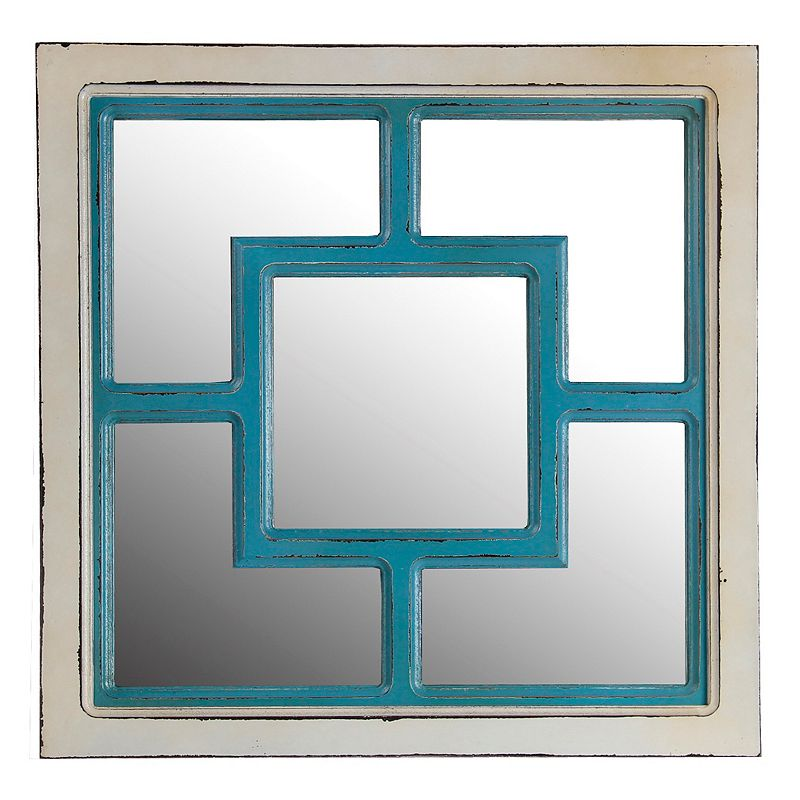 Privilege Square Wood Wall Mirror