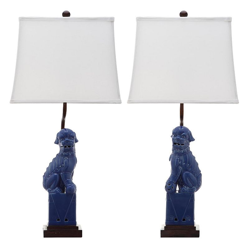 Safavieh 2-piece Foo Dog Table Lamp Set