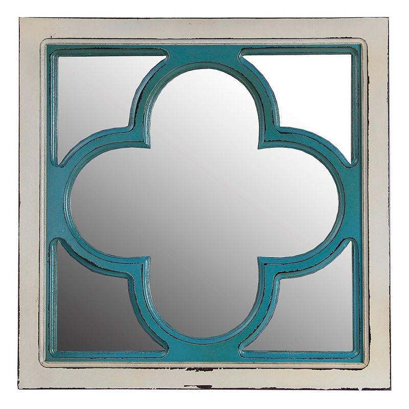 Privilege Clover Wood Wall Mirror