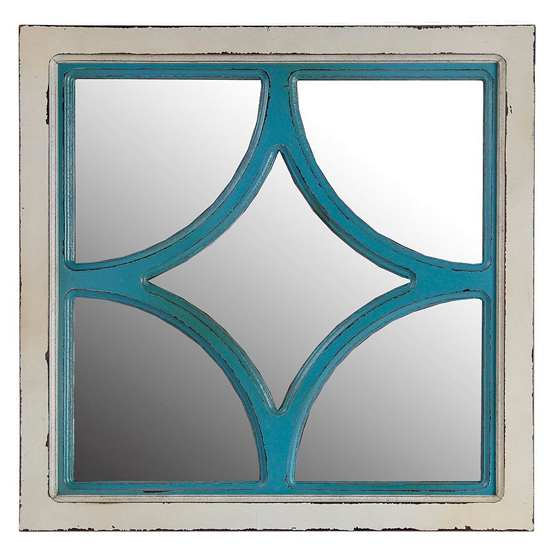 Privilege Diamond Shape Wood Wall Mirror