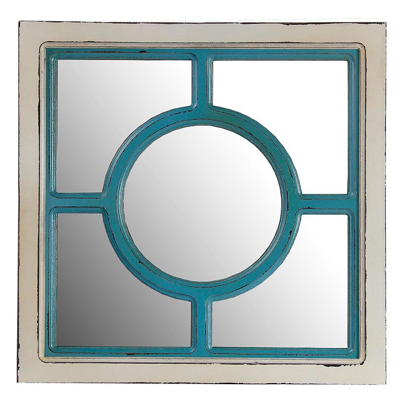 Privilege Center Circle Wood Wall Mirror