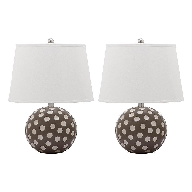 Safavieh 2-piece Polka Dot Circle Lamp Set