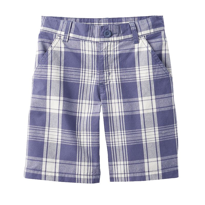 Boys 4-7x SONOMA Goods for Life™ Flat-Front Plaid Shorts