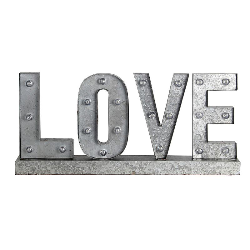 Privilege ''Love'' LED Marquee Metal Word Board Wall Decor