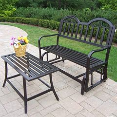 Rochester Outdoor Glider Bench 2-piece Set by