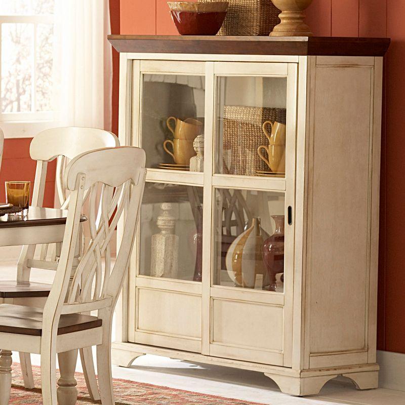Pulaski Curios Display Cabinet Cherry Console Tables In Ridgewood