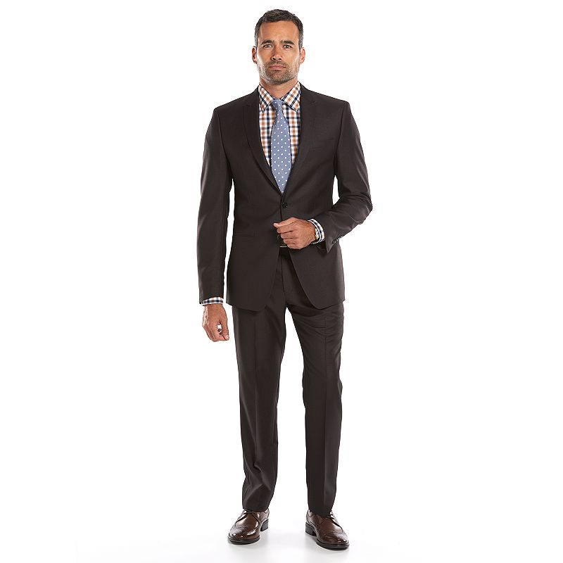Men's Andrew Fezza Slim-Fit Charcoal Checked Suit Jacket