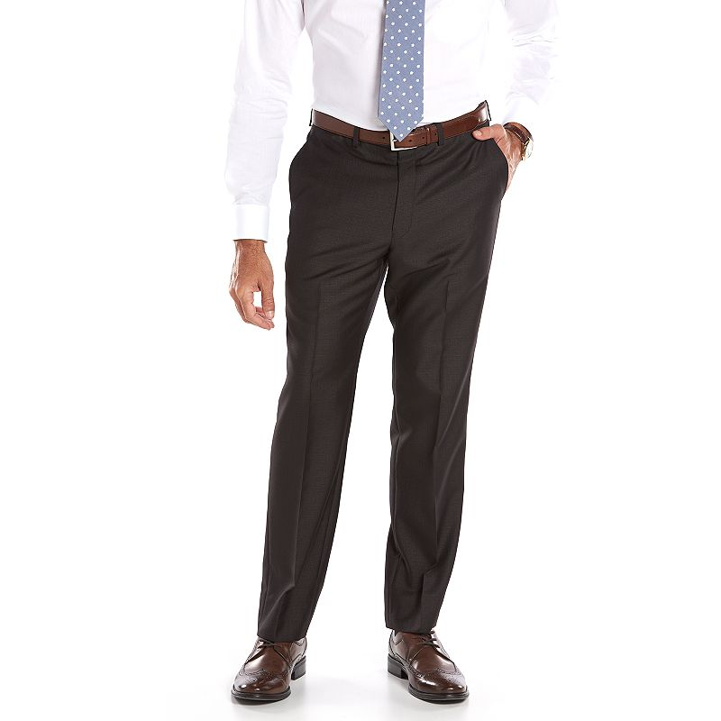 Men's Andrew Fezza Slim-Fit Charcoal Checked Suit Pants