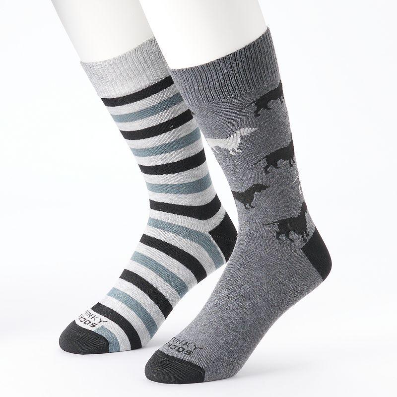Funky Socks 2-pk. Doxie Crew Socks - Men