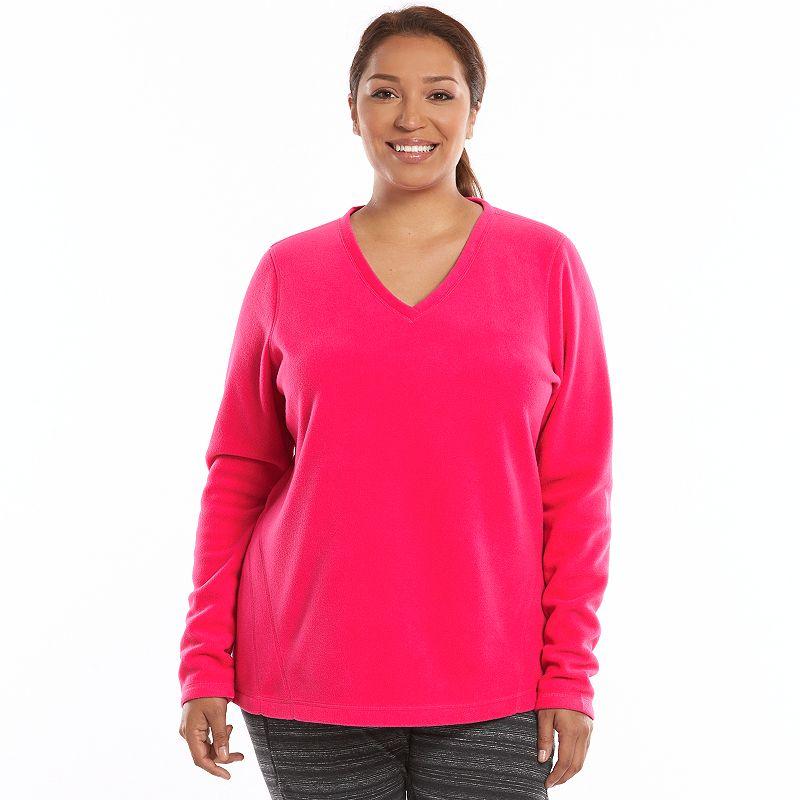 Plus Size Tek Gear® Microfleece V-Neck Sweatshirt
