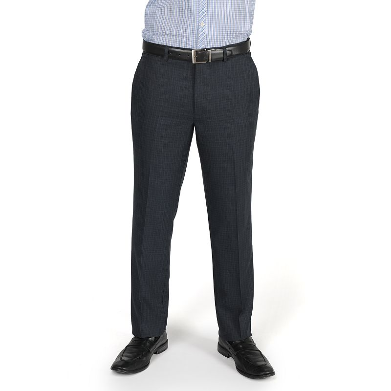 Men's Billy London Slim-Fit Checked Flat-Front Dress Pants